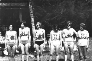 Dámy Hrdova, cca 1978. Zľava Vlasta Macková, Katka Ostrolúcka,Nina Dobrotová, Elena Macková, Desana Haviarová, Darina Haviarová
